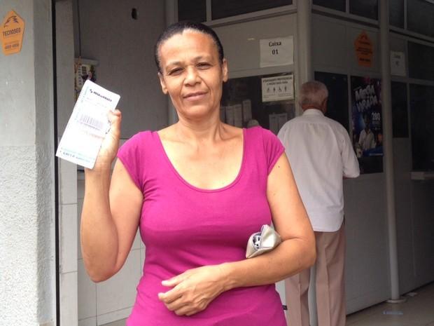 A diarista Dolores Rocha, de 50 anos, sonha em ter a casa própria Goiânia Goiás (Foto: Vanessa Martins/G1)