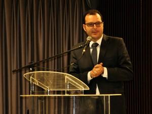 O secretário de Planejamento, Marco Aurélio Marrafon. (Foto: Renê Dióz / G1)