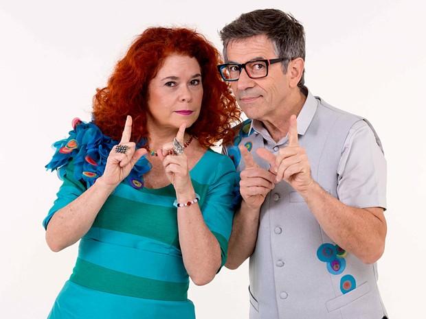 Os músicos Sandra Peres e Paulo Tatit, do grupo Palavra Cantada, atração de sexta a domingo (14 a 16) no teatro da Caixa Cultural, em Brasília (Foto: João Caldas/Divulgação)
