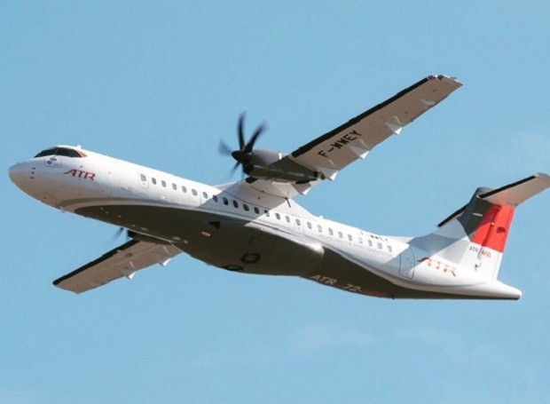 Avião da empresa franco-italiana ATR  (Foto: Reprodução/Instagram)