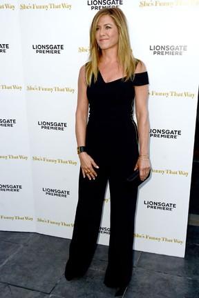 Jennifer Aniston em première de filme em Los Angeles, nos Estados Unidos (Foto: Frazer Harrison/ Getty Images/ AFP)