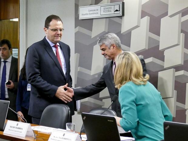 Nelson Barbosa participa de audiência pública na Comissão de Assuntos Econômicos (CAE) do Senado (Foto: Roque Sá / Agência Senado)