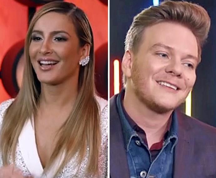 Claudia Leitte e Teló falam com orgulho dos seus pupilos (Foto: TV Globo)