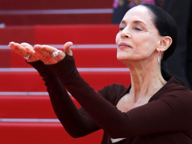 Sônia Braga divulga o filme 'Aquarius' no Festival de Cannes (Foto: REUTERS/Jean-Paul Pelissier)