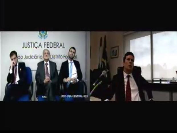 Ex-procurador-geral Antonio Fernando Soares também foi ouvido por videoconferência como testemunha de defesa do ex-presidente Lula (Foto: Reprodução/Justiça Federal do Paraná)