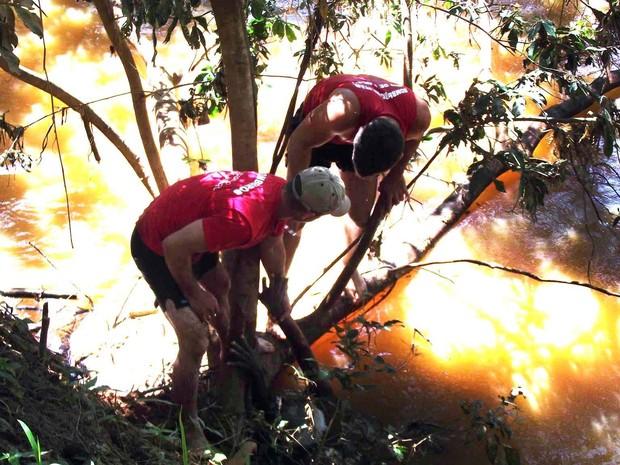 O idoso foi resgatado na manhã desta segunda-feira em Itaperuna. (Foto: Renato Freitas/Blog Adilson Ribeiro)