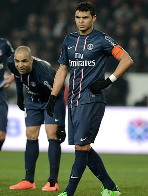 Thiago Silva Alex Silva jogo PSG Montpellier (Foto: AFP)
