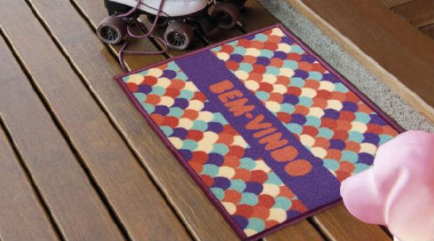 Os capachos da Aroeira podem ser usados em diferentes cômodos da casa  (Foto: Divulgação)