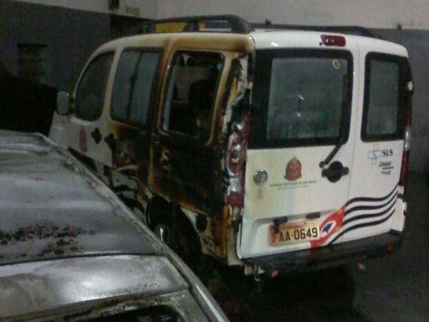 Polícia investiga se incêndio em ambulância foi criminoso (Foto: Arquivo Pessoal)