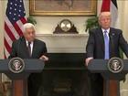 Trump recebe na Casa Branca o presidente da Autoridade Palestina