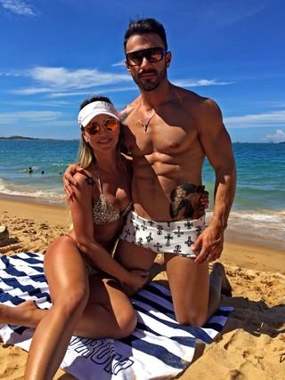 Eliana Amaral e o namorado, o empresário Gesse Junior (Foto: Arquivo Pessoal/Divulgação)