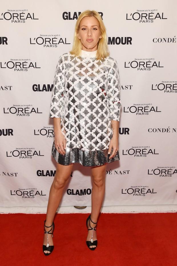 Ellie Goulding em premiação em Nova York, nos Estados Unidos (Foto: Larry Busacca/ Getty Images/ AFP)
