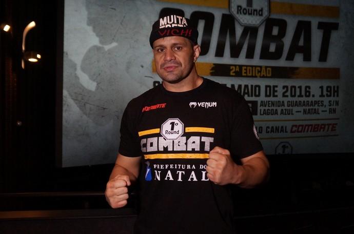 Fábio Maldonado - Lançamento da segunda edição do 1º Round Combat em Natal (Foto: Augusto Gomes/GloboEsporte.com)