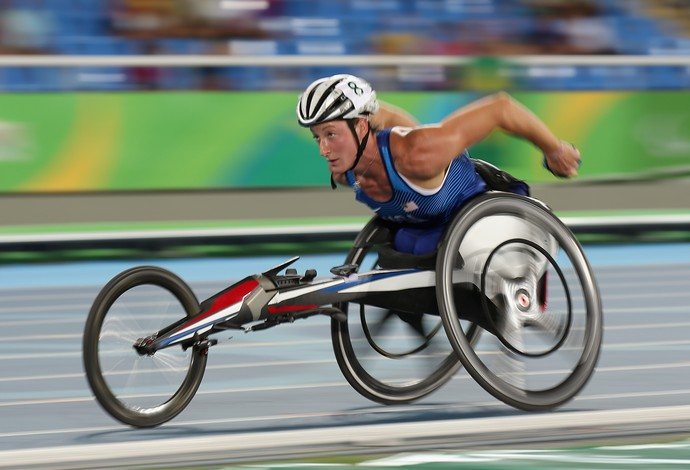 A americana Tatyana McFadden, do atletismo paralímpico (Foto: Getty Images)