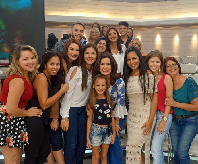 Mais plateia com a Fátima  (Foto: Vinícius Cunha/Gshow)