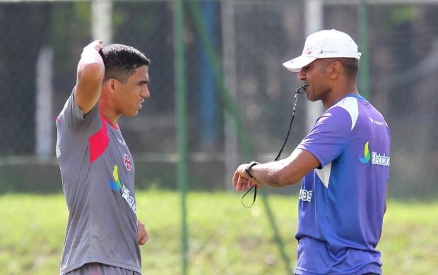 Allan e Cristóvão Borges no treino do Vasco (Foto: Ivo Gonzalez / Agencia O Globo)