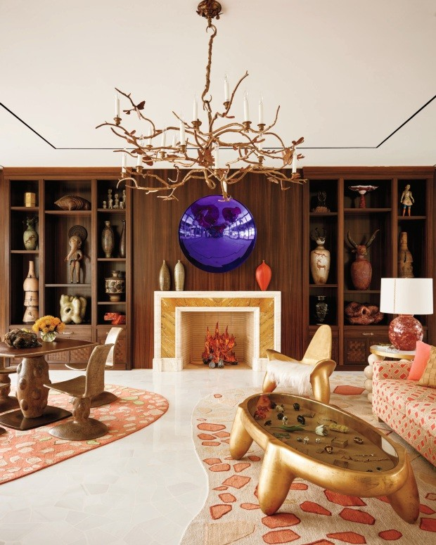 Colecionador comissiona artistas e designers a criar peças excêntricas para sua casa (Foto: François Dischinger)