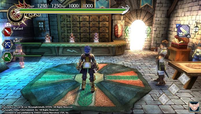 O Quartel-General é onde você pegar suas quests em Ragnarok Odyssey ACE (Foto: Reprodução)