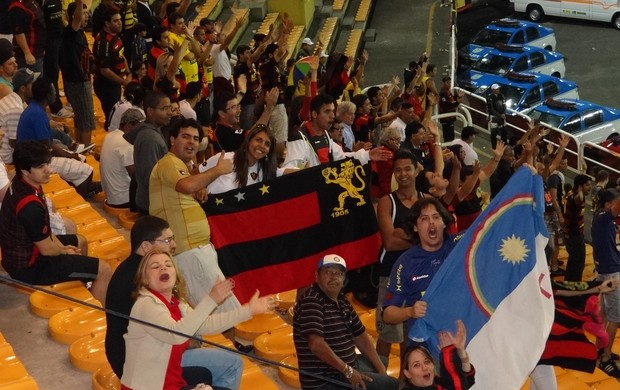 Torcida do Sport no RJ (Foto: Elton de Castro/Globoesporte.com)