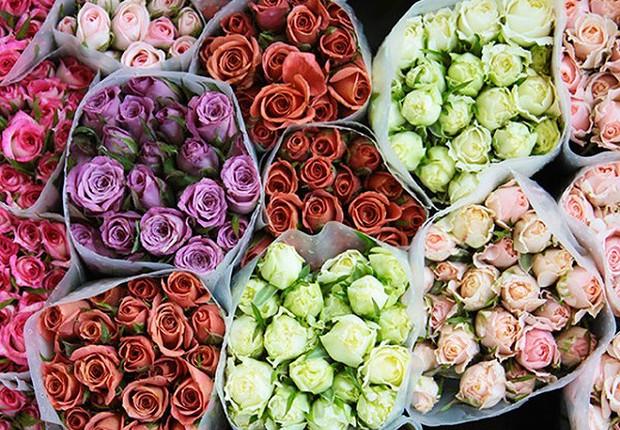 Flores à venda no Ceagesp (Foto: Divulgação)