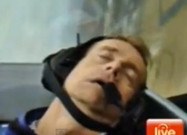 Grant Denyer desmaiou dentro de avião em transmissão ao vivo (Foto: Reprodução)
