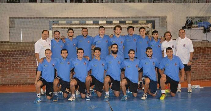 Seleção uruguaia de handebol que vai ao Mundial Júnior (Foto: FUH / Federação Uruguaia de Handebol)