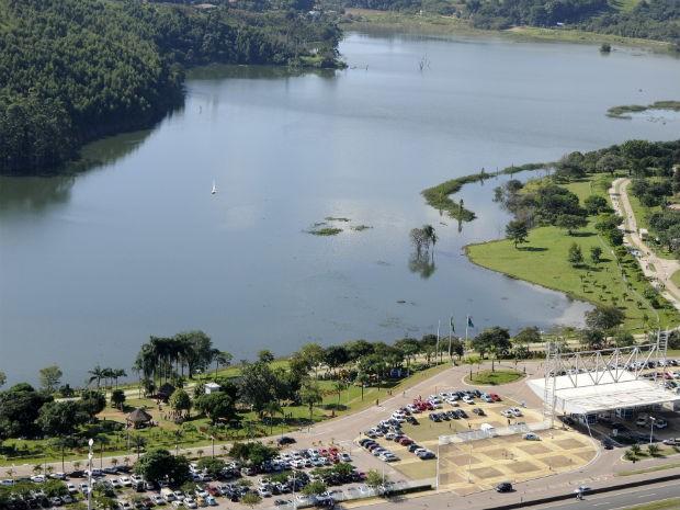Represa do Parque da Cidade, em Jundiaí, em nível normal (Foto: Divulgação/DAE Jundiaí)