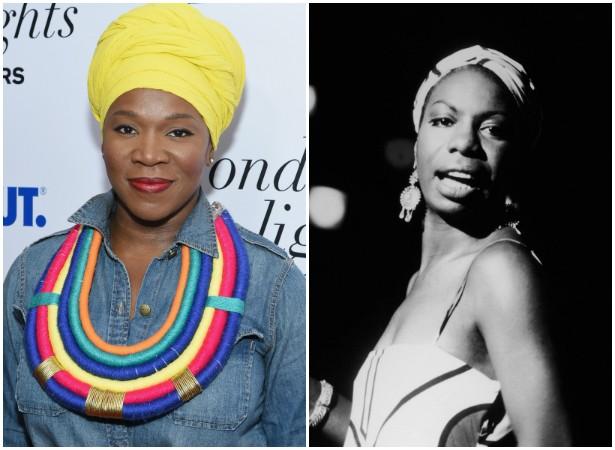 A premiada cantora India.Arie lembra um bocado outra grande intérprete norte-americana, a musa Nina Simone (1933-2003), inclusive no jeito de se vestir. (Foto: Getty Images)