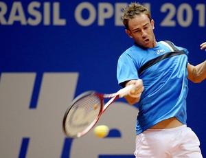 Filippo Volandri no tênis contra Bellucci no Brasil Open (Foto: Gaspar Nóbrega  / Inovafoto)