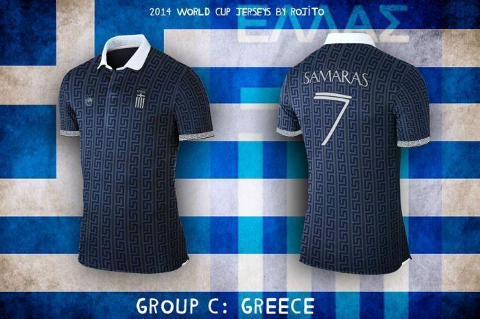 Blog da Copa - design camisa da Grécia