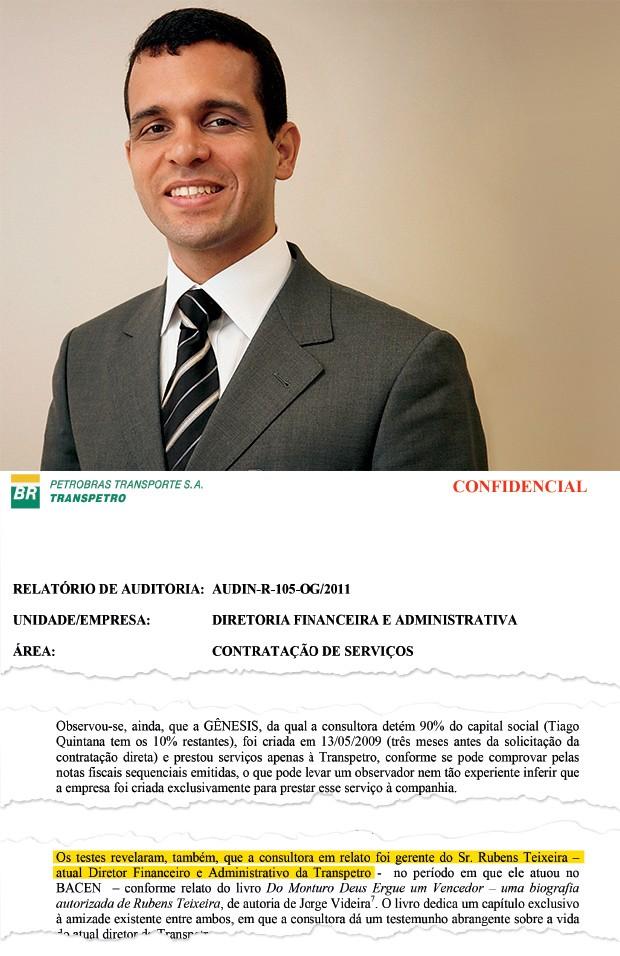 NEPOTISMO Rubens Teixeira, diretor financeiro  da Transpetro.  Ele contratou a empresa de uma amiga (Foto: Reprodução)