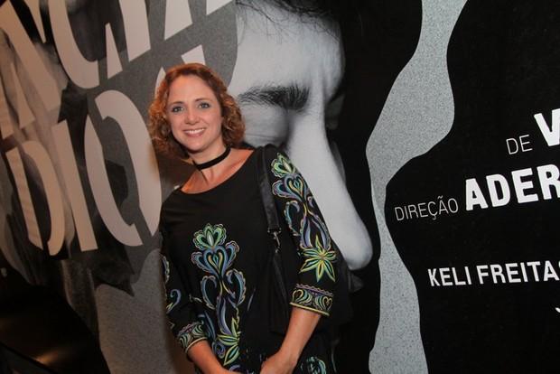 Letícia Isnard na estreia da peça Incêndios (Foto: Anderson Borde / AgNews)