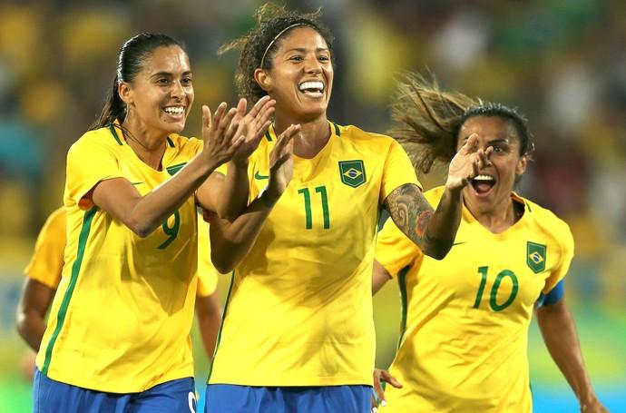 Cristiane, Brasil X Suécia (Foto: Agência Reuters)
