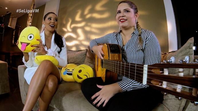 Niara Meireles entrevista Marília Mendonça. (Foto: Se Liga VM)