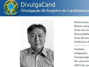 Dr. Jorge (DEM), prefeito eleito de Pedra Bela (SP) morreu nesta quinta-feira (11) (Foto: Reprodução / TSE)