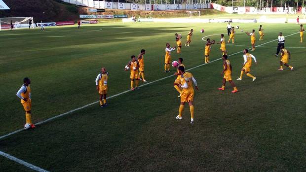 treino do vitória físico (Foto: Thiago Pereira/Globoesporte.com)