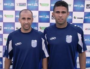 Dum e Trindade foram apresentados no Goytacaz para a Copa Rio (Foto: Gustavo Rangel/ Goytacaz)