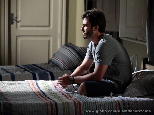 William sofre por ter sido eliminado do Grupo (Foto: Pedro Curi/TV Globo)