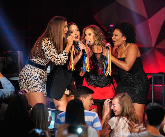 Ivete Sangalo, Claudia Leitte, Daniela Mercury e Margareth Menezes no Altas Horas (Foto: Reinaldo Marques/Gshow)