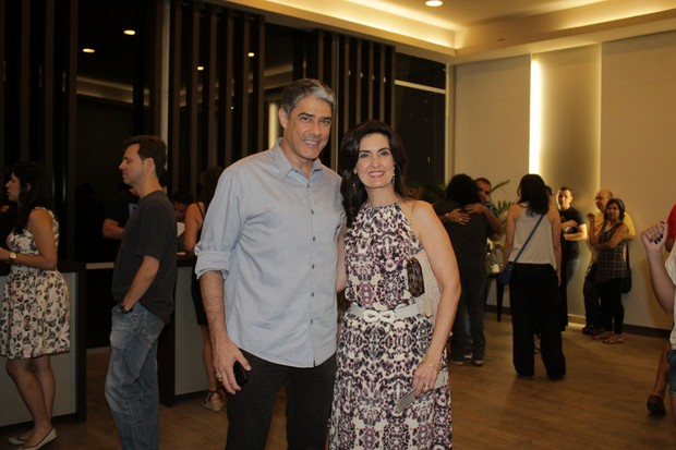 William Bonner e Fátima Bernardes no show do Skank (Foto: Fabio Moreno/ Ag. News)