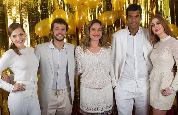 Letícia Colin, Jayme Matarazzo, Fernanda Gentil, Marcello Melo Jr. e Marina Ruy Barbosa (Foto: Globo/Renato Rocha Miranda)
