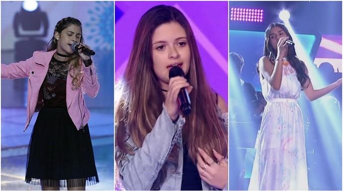 As três arrasaram no 'The Voice Kids' (Foto: Reprodução/Globo)