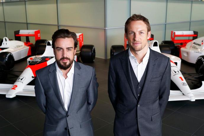 Fernando Alonso e Jenson Button - pilotos da McLaren-Honda em 2015 (Foto: Divulgação)