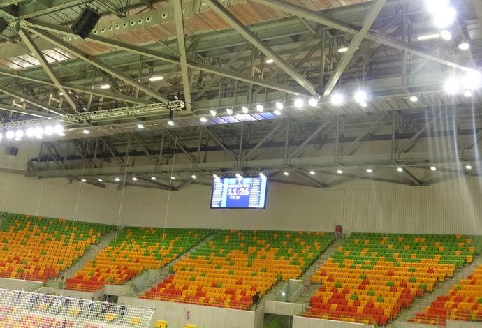 Arena do Futuro, telão, iluminação, evento-teste, handebol (Foto: Matheus Tibúrcio)
