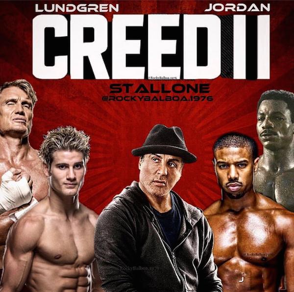 Um pôster feito por um fã para Creed 2 com Rocky Balboa e a presença do lutador de MMA (Foto: Twitter)