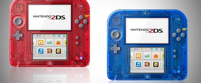 A Nintendo anunciou dois novos modelos de 2DS transparentes. (Foto: Divulgação)