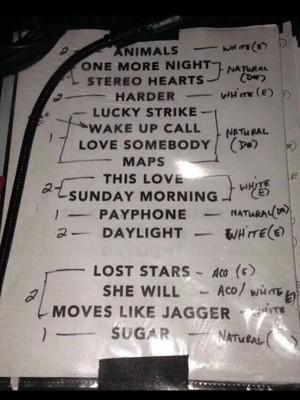 """""""Maps"""", """"Animals"""" e """"Sugar"""" são alguns dos hits da setlist do show do Maroon 5, em Porto Alegre (Foto: Gabriela Haas/G1)"""