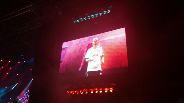 Justin Bieber em show em São Paulo (Foto: EGO)