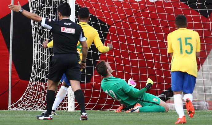 Lucas Perri goleiro São Paulo Brasil x Uruguai seleção brasileira sub-20 (Foto: Lucas Figueiredo / CBF)