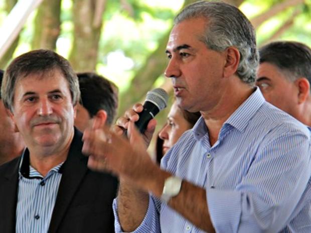 """""""Não se pode criminalizar toda a carne brasileira"""", diz Azambuja (Foto: Chico Ribeiro / Asssessoria de Imprensa do governo de MS)"""